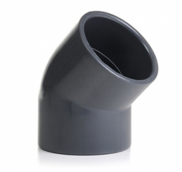 "2"" Grey PVC 45 Degree Elbow"